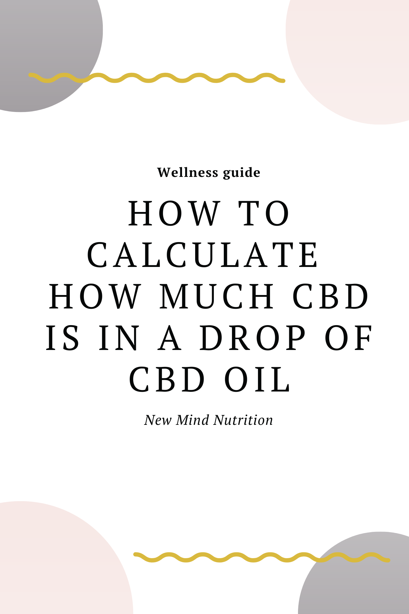 How Much CBD is in a drop of CBD Oil?