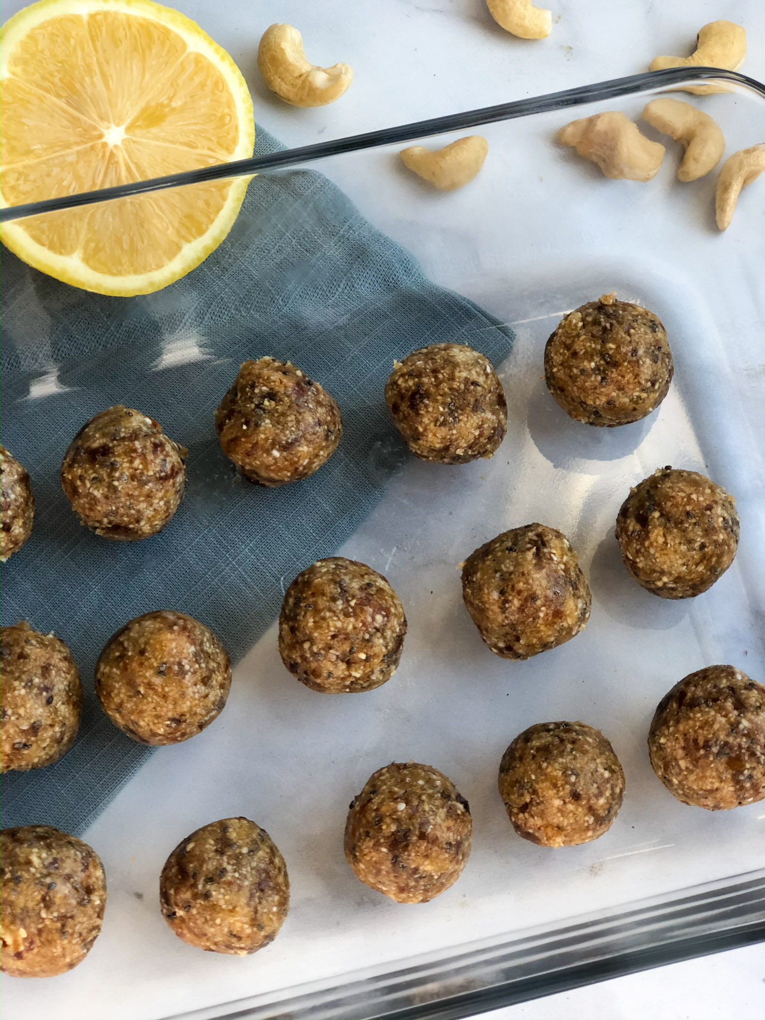 Healthy Lemon Bliss Balls with CBD
