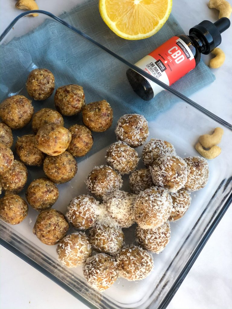 Lemon bliss balls with CBD
