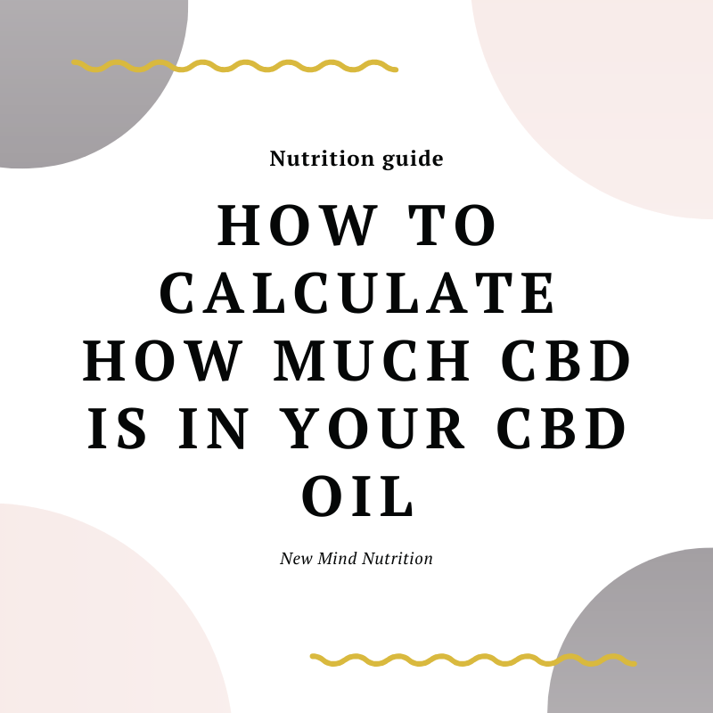 how to calculate how much cbd per drop of cbd oil