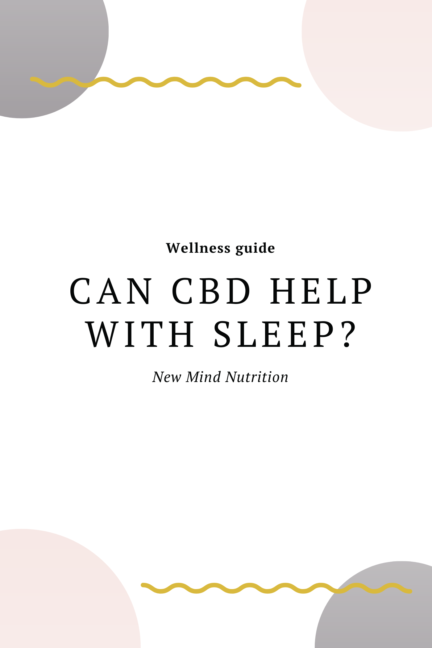Can CBD help you sleep?