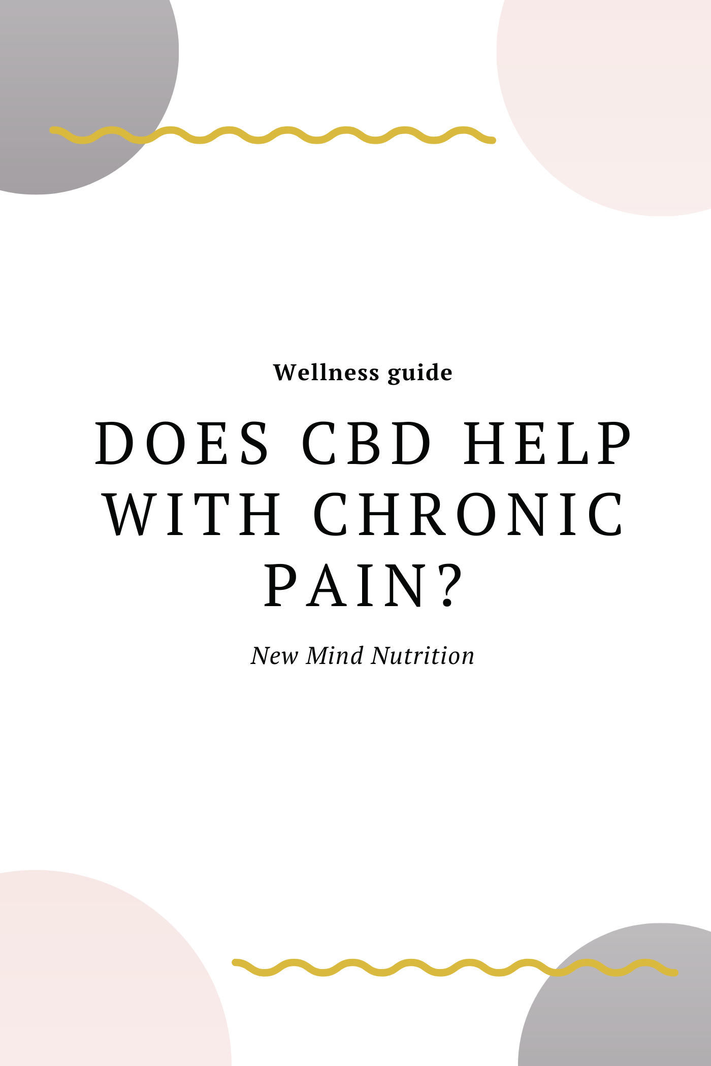 Does CBD help with chronic pain?